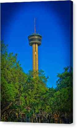 San Antonio's Tower Of The Americas Canvas Print by Mountain Dreams