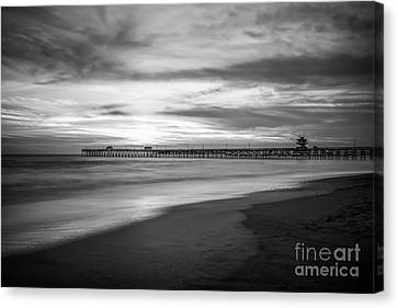 Clemente Canvas Print - San Clemente Pier Black And White Photo by Paul Velgos
