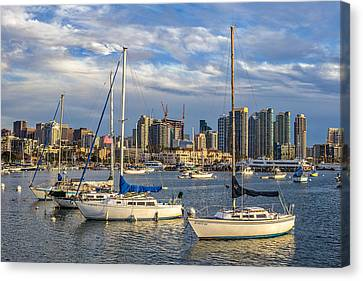 San Diego Harbor Canvas Print by Peter Tellone
