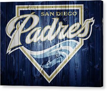 San Diego Padres Barn Door Canvas Print by Dan Sproul