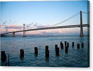 San Francisco Bay Bridge Canvas Print by Mandy Wiltse