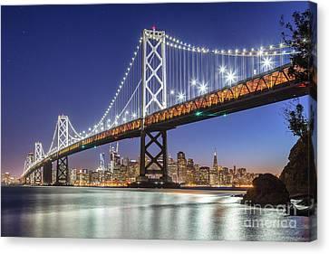 San Francisco City Lights Canvas Print by JR Photography