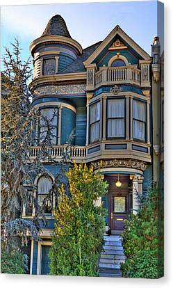 San Francisco Victorian Canvas Print by Paul Owen