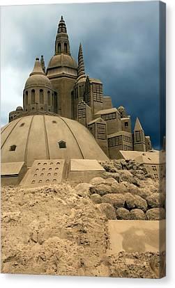 Sand Castle Canvas Print by Sophie Vigneault