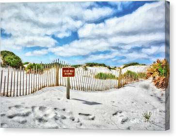 Canvas Print featuring the photograph Sand Dunes At Grayton Beach # 4 by Mel Steinhauer