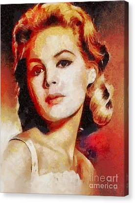 Sandra Dee, Vintage Hollywood Actress Canvas Print by Mary Bassett