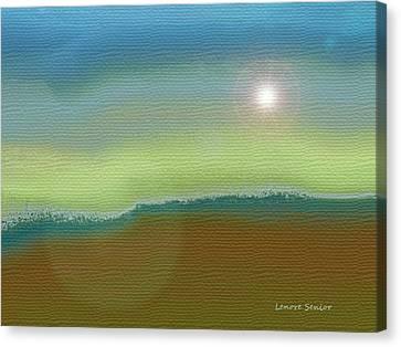 Sun Rays Canvas Print - Sangre De Cristos by Lenore Senior