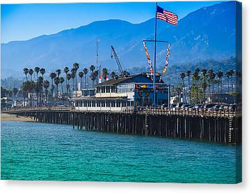Santa Barbara Pier Canvas Print by Dany Lison