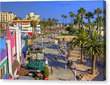 Santa Monica Beach Canvas Print by Ricky Barnard