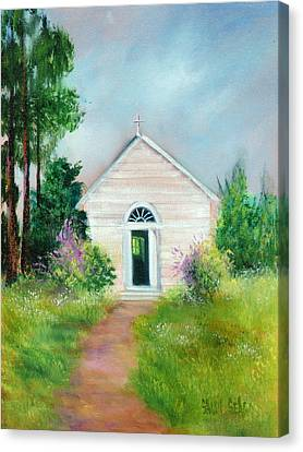 Santa Rosa Chapel Canvas Print by Sally Seago