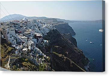 Santorini, Greece Canvas Print by Cendrine Marrouat