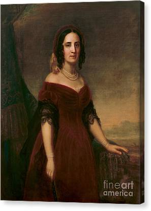 First Ladies Canvas Print - Sarah Polk, First Lady by Science Source