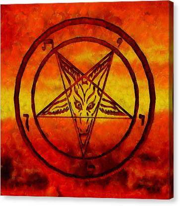 Satanism Canvas Print by Esoterica Art Agency