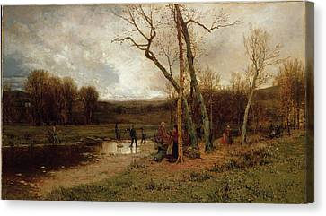 Saturday Afternoon Canvas Print by Jervis McEntee