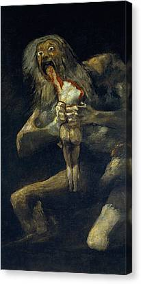 Saturn Devouring His Son Canvas Print by Francisco Goya