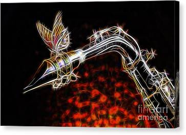 Saxophone Collection With Special Guest Canvas Print by Marvin Blaine