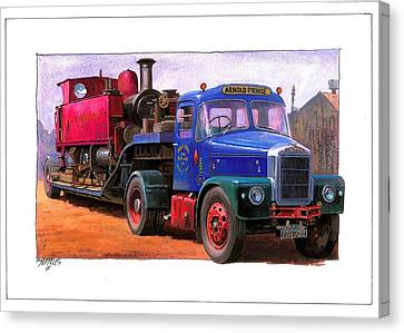 Scammell Highwayman. Canvas Print by Mike  Jeffries