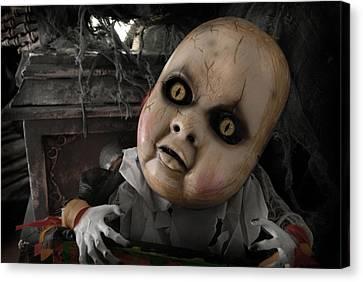 Scary Doll Canvas Print by Craig Incardone