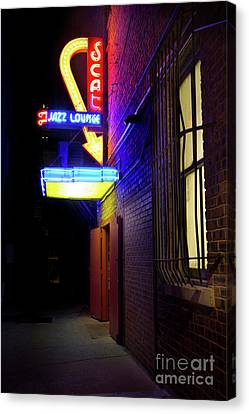 Canvas Print featuring the photograph Scat Jazz Lounge 1 by Elena Nosyreva