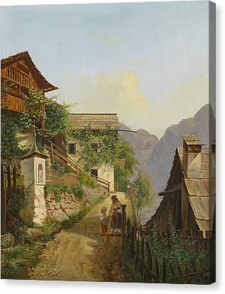 Hallstatt Canvas Print - Scene Of Hallstatt by Celestial Images