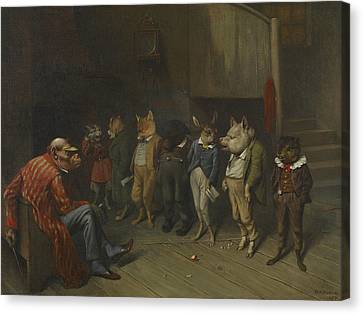 School Rules Canvas Print by William Holbrook Beard