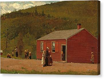 School Time Canvas Print by Winslow Homer