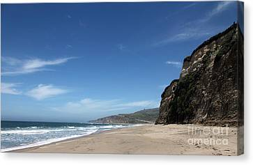 Scott Creek Beach California Usa Canvas Print by Amanda Barcon