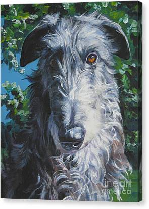Scottish Dog Canvas Print - Scottish Deerhound by Lee Ann Shepard