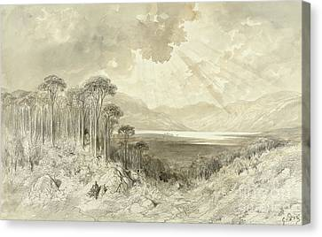 Mountain Canvas Print - Scottish Landscape by Gustave Dore