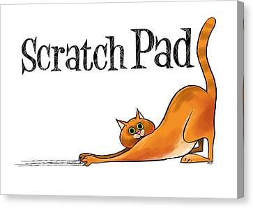 Scratchy Cat Canvas Print by Trevor Irvin