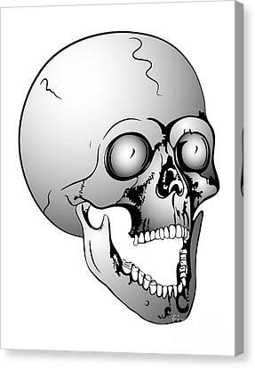 Screaming Skull Canvas Print by Michal Boubin