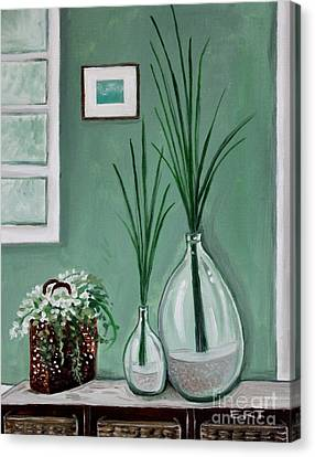Canvas Print featuring the painting Sea Grass by Elizabeth Robinette Tyndall