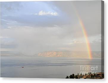 Sea Of Galilee Canvas Print by Shay Levy