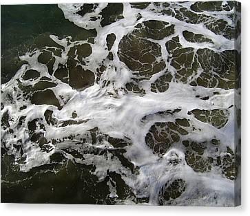 Seafoam Lace Canvas Print by Robert  Hooper