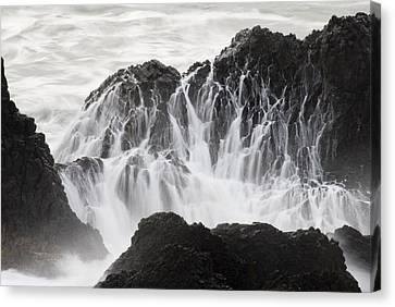 Seal Rock Waves And Rocks 5 Canvas Print
