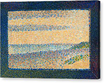 Seascape, Gravelines Canvas Print by Georges Seurat