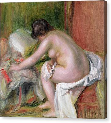 Seated Bather Canvas Print by Pierre Auguste Renoir