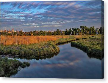 Canvas Print featuring the photograph Secaucus Greenway Trail Nj by Susan Candelario