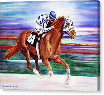 Secretariat Painting Blurred Speed Canvas Print