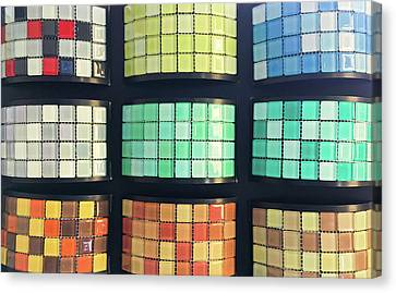 Selection Of Decorative Tiles Canvas Print by Tom Gowanlock