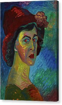 Self-portrait I Canvas Print by Marianne von Werefkin