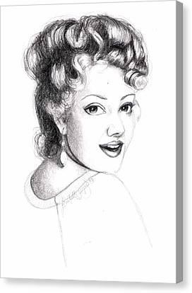 Self Portrait Canvas Print by Scarlett Royal