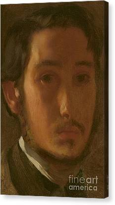 Self-portrait With White Collar Canvas Print