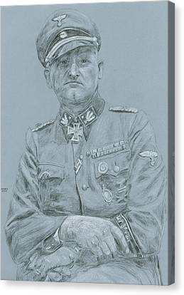 Ww Ii Canvas Print - Sepp Dietrich by Dennis Larson