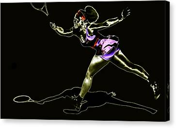 Serena Williams Extended Canvas Print by Brian Reaves