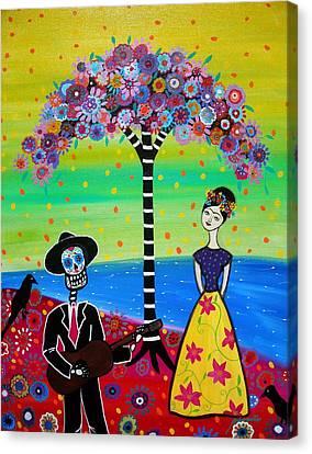 Serenading Frida Canvas Print by Pristine Cartera Turkus