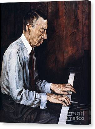 Sergei Rachmaninoff Canvas Print by Granger