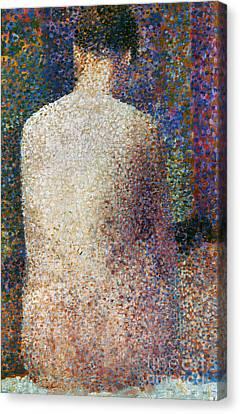 Seurat: Model, C1887 Canvas Print by Granger