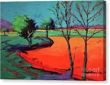 Plowed Fields Canvas Print - Severn Stoke by Paul Powis