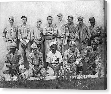 Sf Seals Baseball Team Canvas Print by Underwood Archives